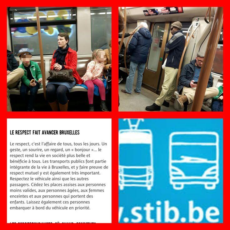 Certains parents feraient bien de lire:  https://www.stib-mivb.be/article.html?l=fr&_guid=60fc71a9-0c83-3410-4d9a-8aeb578a6027 (Le #respect fait avancer #Bruxelles: céder les places assises aux personnes moins #valides, aux personnes #âgées, aux femmes #enceintes et aux personnes qui portent des #enfants) Le 12.02.2017 vers 14h35 #Montgomery