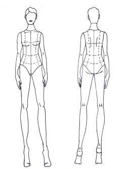 Simple Front And Back Fashion Illustration Models