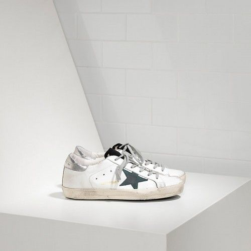 Golden Goose Damen Super Star Sneakers In Leather Con Suede Star G29ws590f54