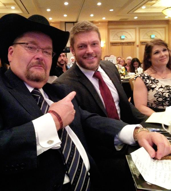 Jim Ross with Edge and Beth Phoenix