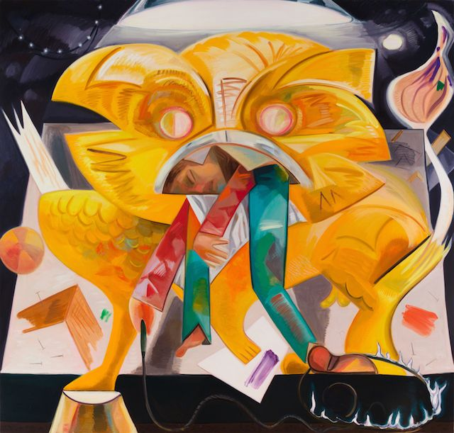 Dana Schultz Lion Eating its tamer 2015: