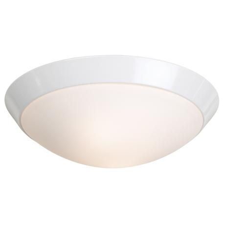 """Inexpensive laundry room light - 11"""" Wide White Ceiling Light Fixture -"""