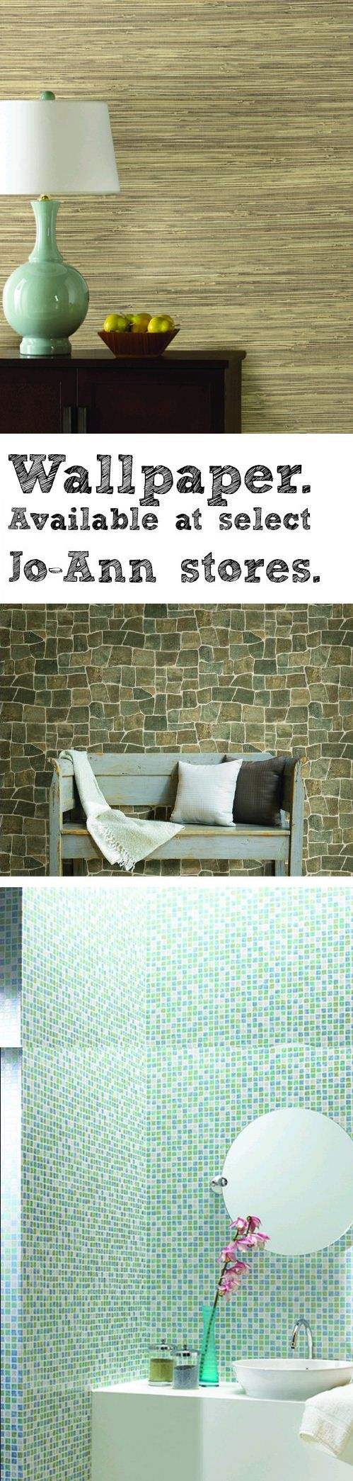 After taking a 20 year vacation, wallpaper is back on trend. And available at select local Jo-Ann stores. Vacation was good to it, this wallpaper has attitude.