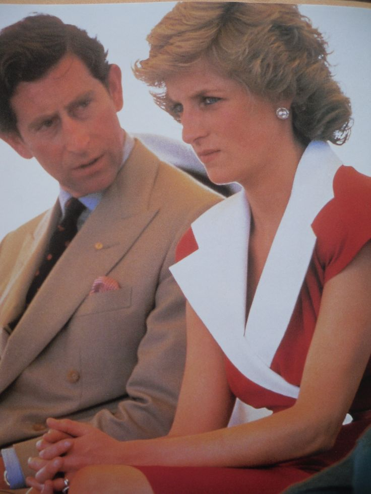 January 29, 1988: Prince Charles & Princess Diana during the Royal visit to Australia for the Bicentenary celebrations. They look like they are annoyed with one another in this photo