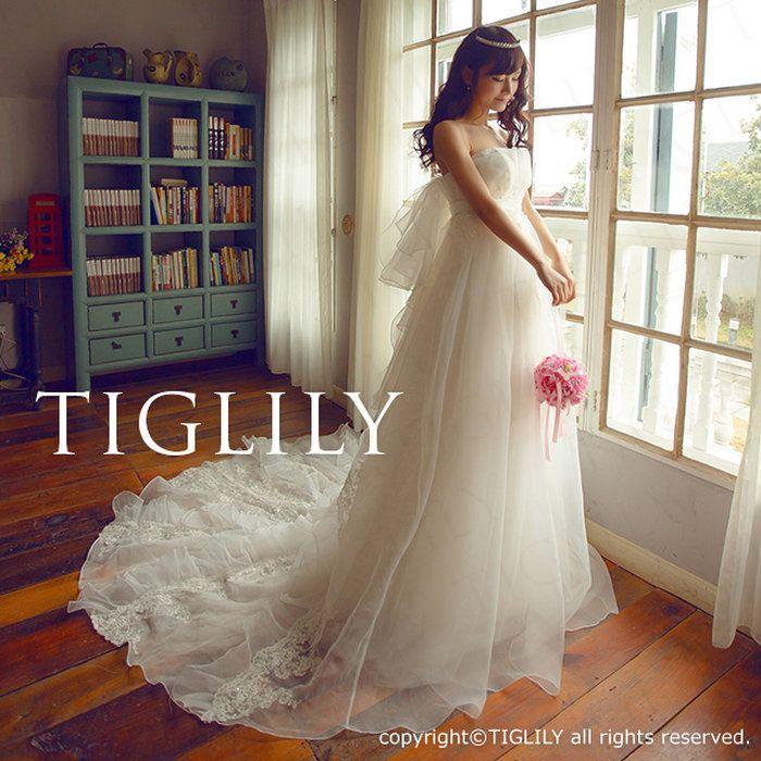 TIGLILYウェディングドレス_ホワイトドレス(w2007)