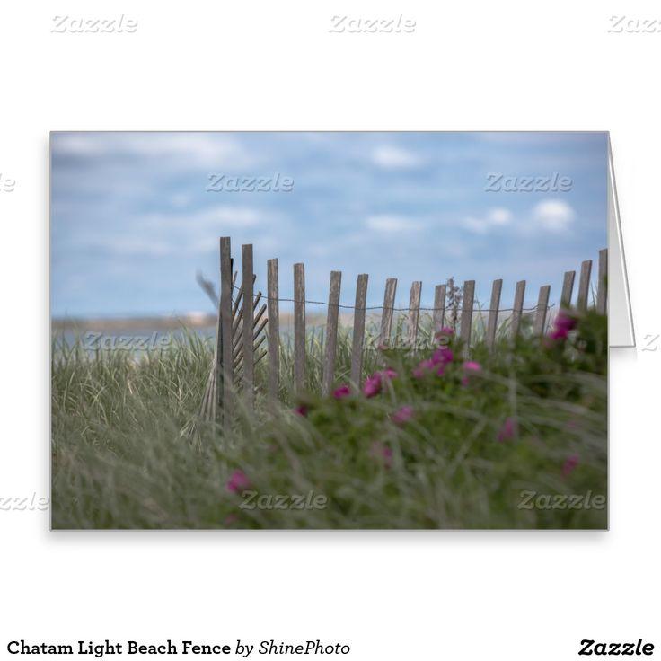 Chatam Light Beach Fence Greeting Card