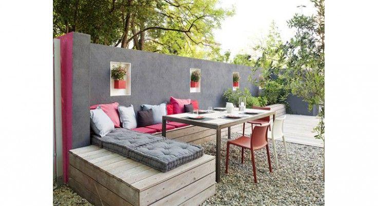7 Revetements Jolis Et Pas Chers Pour Une Terrasse En 2020 Idee Deco Exterieur Banquette Exterieure Amenagement Terrasse