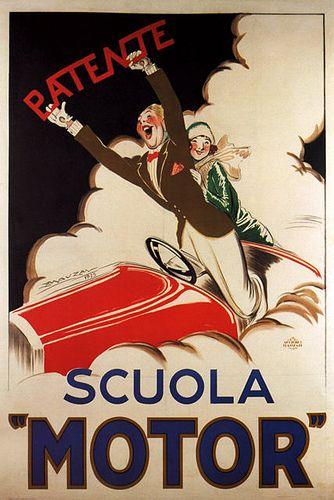 Vintage Italian Posters ~ #Italian #vintage #posters ~ #Scuola Motor ~ Patente