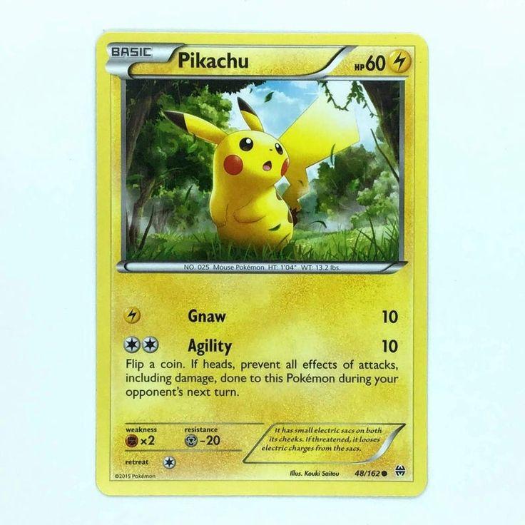 Pokemon card pikachu 48162 xy breakthrough nmm etsy in