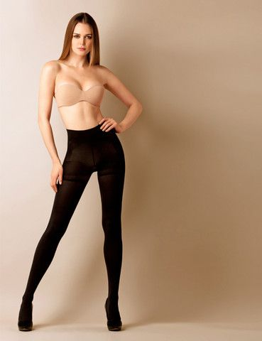 Shaper Push Up Pantyhose.   Reduces one size. Made of seamless italian multi microfber.  opaque 40 den.
