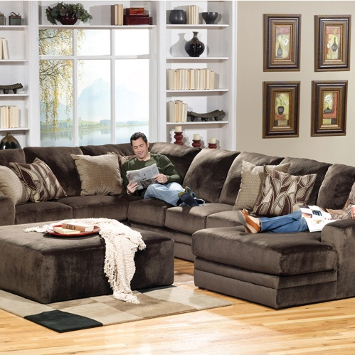 Jackson everest sectional in chocolate you choose the configuration for Living room furniture configurations