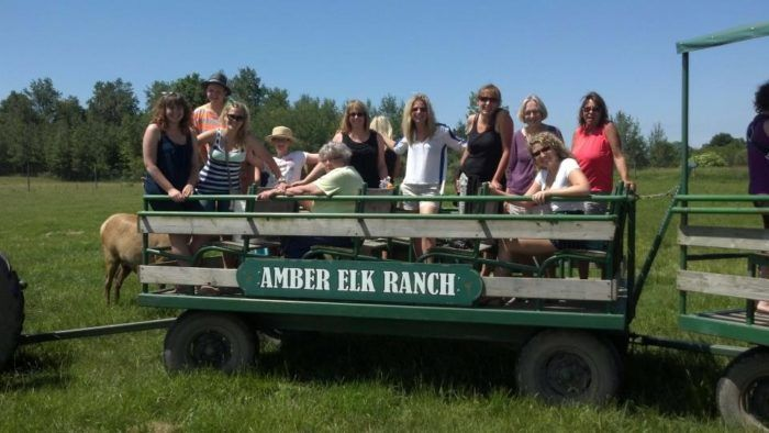 The ranch sits on 130 acres of land and is open to the public for tours.