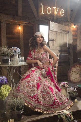 Dark Pink designer Bridal lehenga – Panache Haute Couture