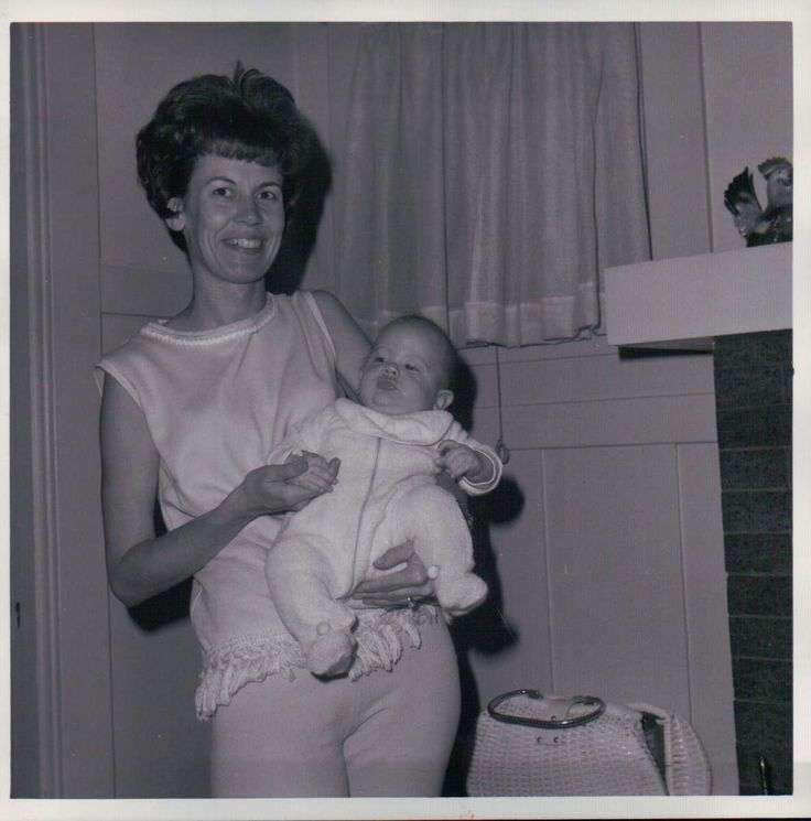 Mom and son, Joline and Glenn Martin, 1965.