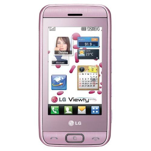 Buy LG GT400 Viewty Smile Unlocked GSM QuadBand Phone with 5 MP Camera, Touch Screen, MP3 Music Player, Bluetooth - International Version (Baby Pink) NEW for 79 USD | Reusell