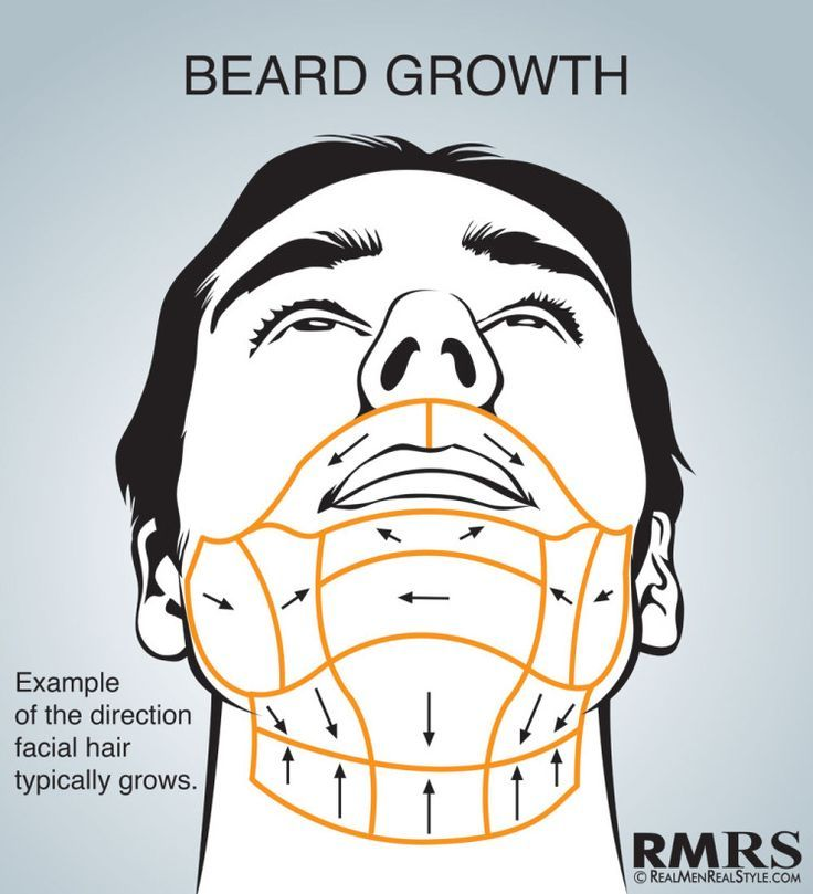 Shave Maps Infographic | How To Shave Correctly | Which Direction Do You Shave Your Face?