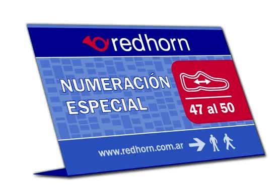 cartel indicador de numeración especial