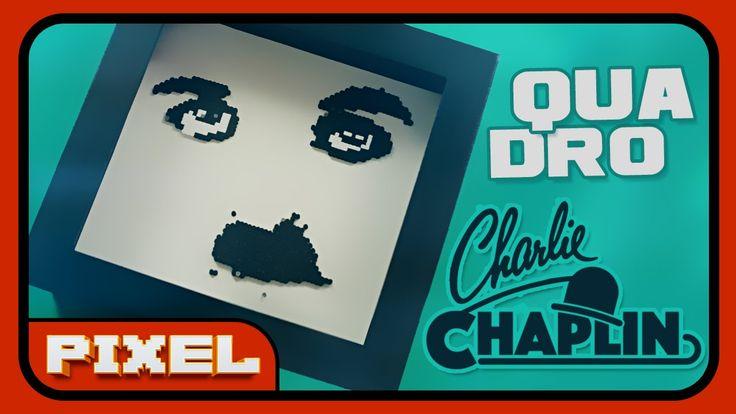 Quadro Charlie Chaplin | Amigo Secreto DIY | Pixel Art