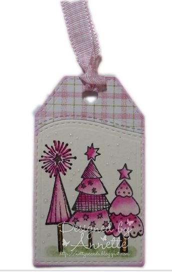 LOTV - Snowflakes and Christmas Trees A5 Sheet by Annette Connelly