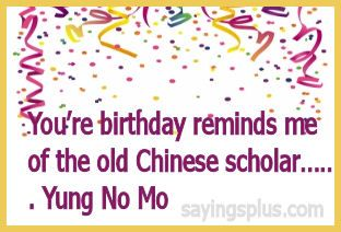 Hahaha...No Mo Yung, but still kickin! Happy Birthday to meee (pretty soon)