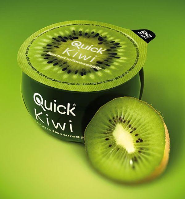 Yaourt au kiwi, emballage kiwi