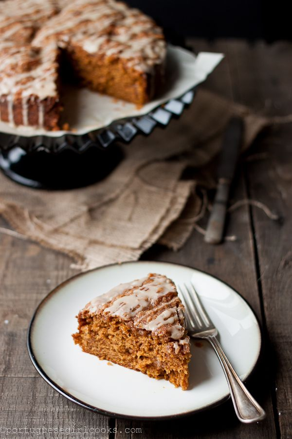 pumpkin coffee cake + brown sugar streusel   Portuguese Girl Cooks