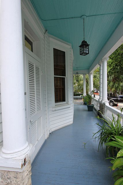 Haint Blue Porch Ceiling Color A Must Have For A Good