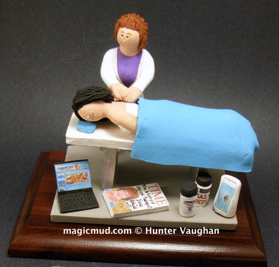 Massage Therapist's Gift  www.magicmud.com    1 800 231 9814    magicmud@magicmud.com $225  Personalized #Medical Gift Figurines, custom created just for you!    Perfect present for all #Doctors, a  heartfelt gift for birthdays, graduations, anniversaries, new office openings, retirement, as a thank you to a great #physician  Surgeon, cardiologist, therapist, nurse, ob-gyno, podiatrist, psychiatrist, nephrologist, urologist, radiologist, any occupation made to to order by #magicmud