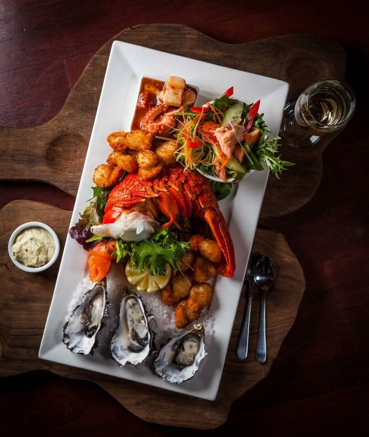 Tazmanian seafood platter.