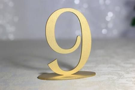 wedding table numbers cut out - Google Search