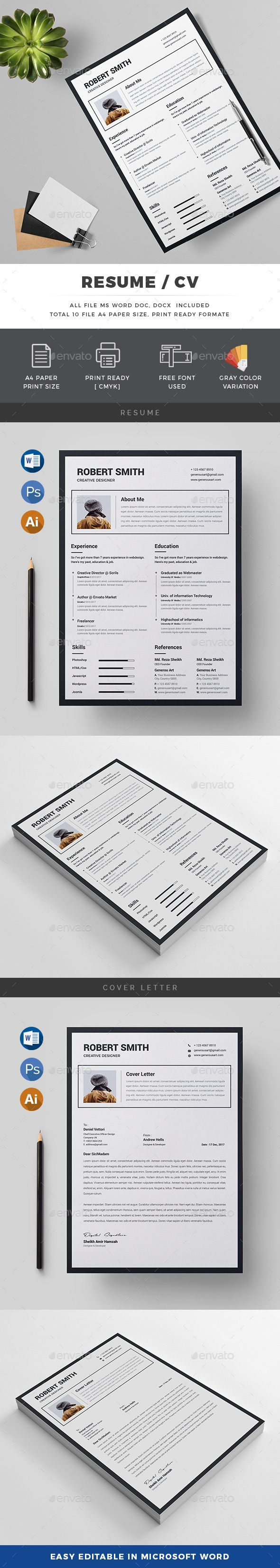 Resume 50 best Resume Templates images on