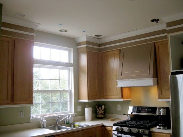 How to Add moldings to your kitchen cabinets