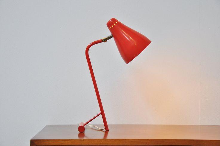 Dutch T foot fifties table lamp 1950 | Mass Modern Design