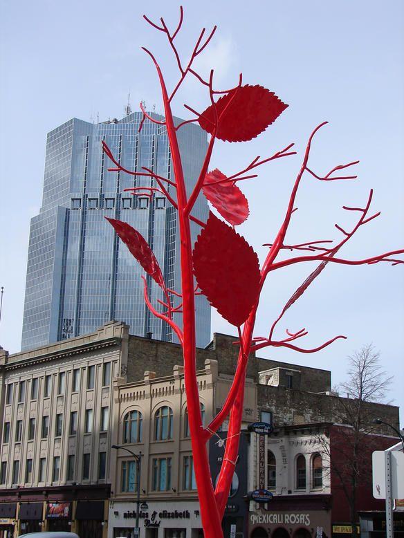 Gorgeous metal art trees!
