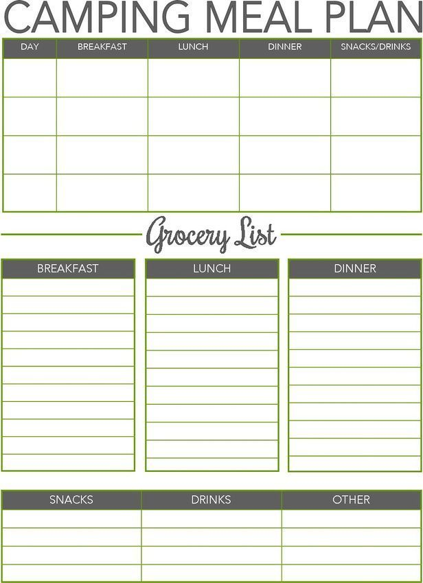 Discover out about CAMPING MEAL PLANNER....  See even more by visiting the photo link