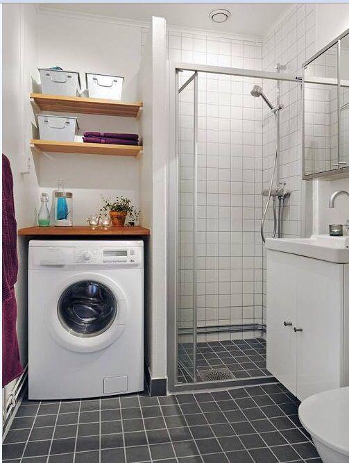 17 mejores ideas sobre peque o espacio de lavadero en for Lavadero para bano