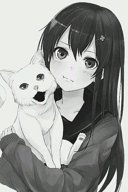 #Anime #Girl #Cat