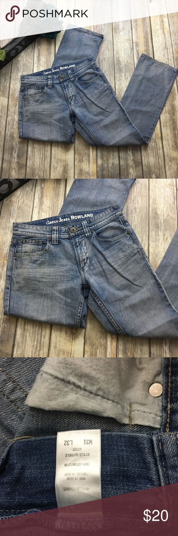 Guess Jeans ROWLAND Style Boot Cut Jeans Men's boot cut jeans Rowland style. Size waist 31 length 32. In excellent used condition. Guess Jeans Bootcut