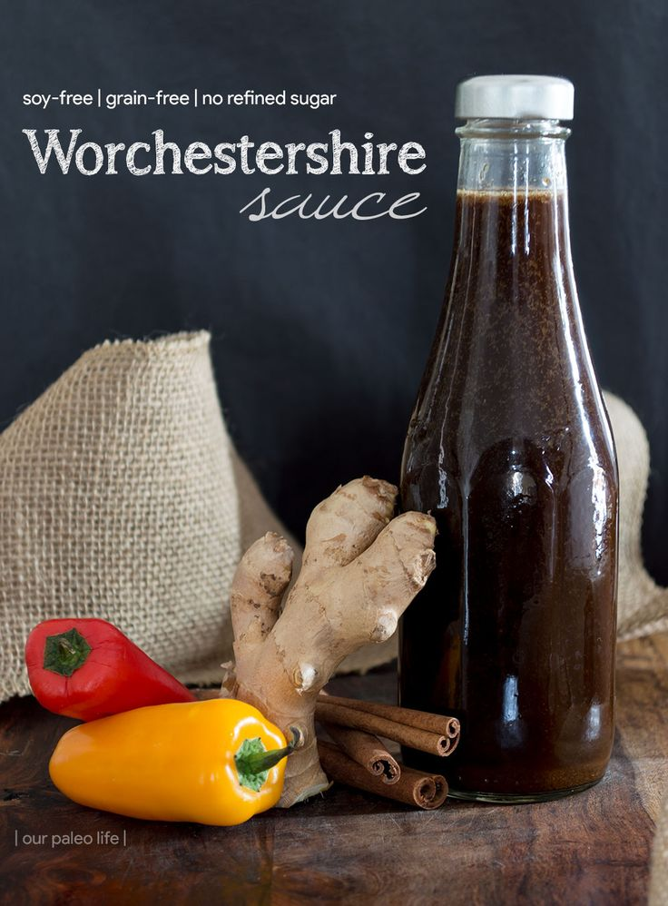 This soy-free worcestershire sauce is perfectly paleo and works great in soups, stews, and meat dishes. Make a batch and keep it in the fridge for months. #paleo