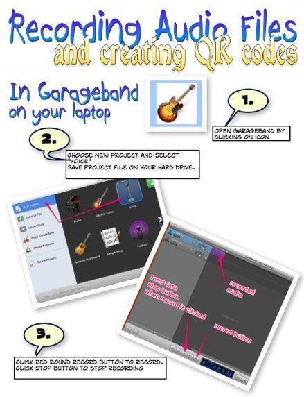 Audio files and QR codes- great for the classroom! Check the comments out under the article for a couple of neat ideas to correlate with art!