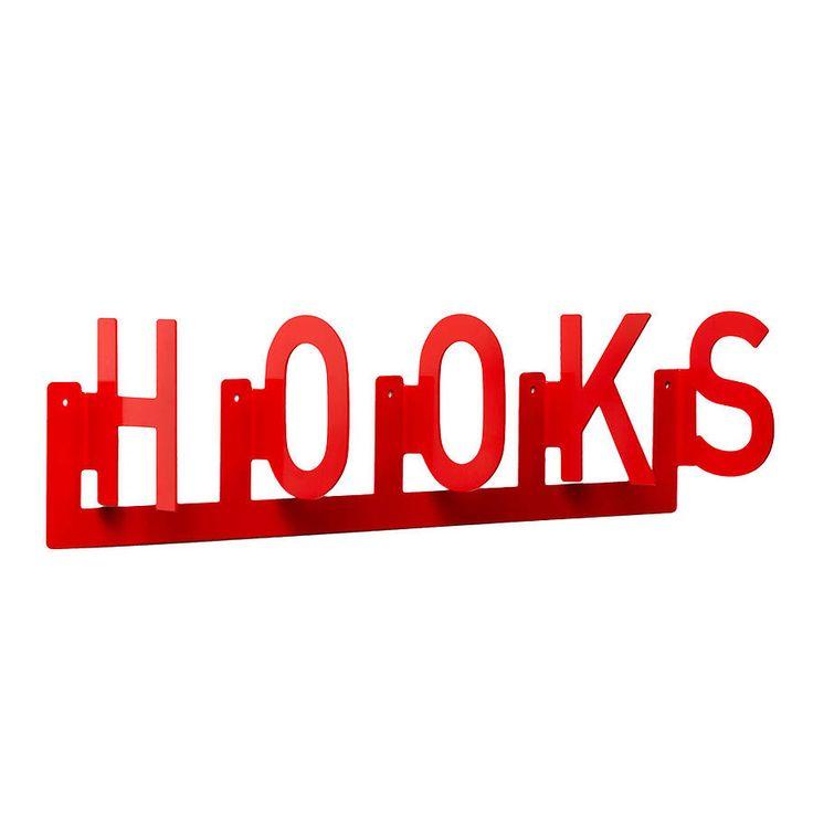typographic coat 'hooks' by goodwin + goodwin | notonthehighstreet.com