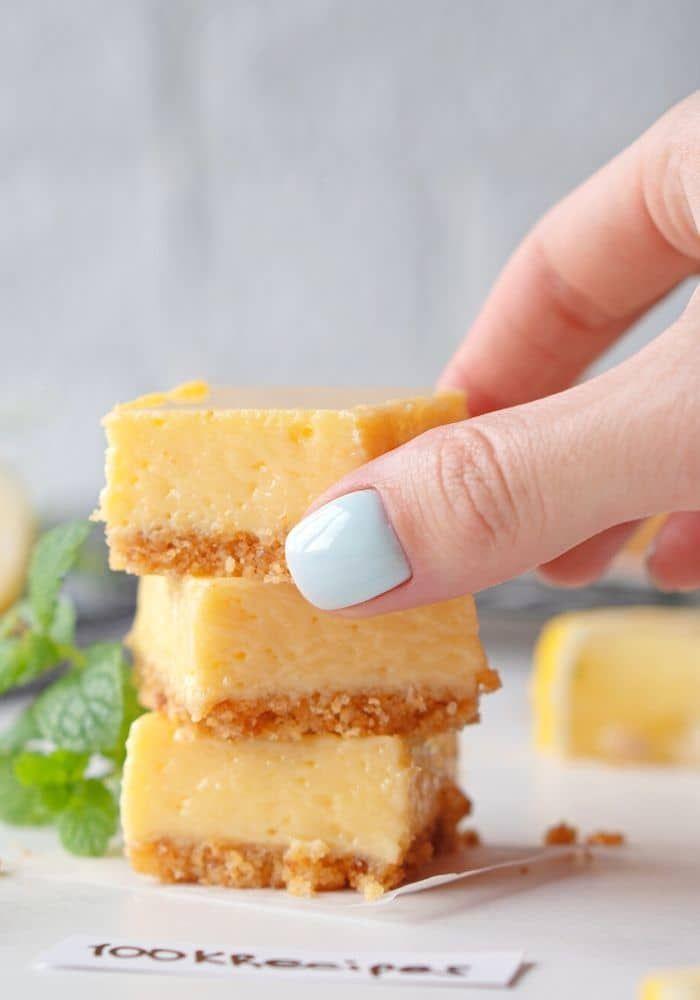 Creamy Lemon Squares In 2020 Lemon Squares Recipe Sweetened Condensed Milk Recipes Lemon Squares