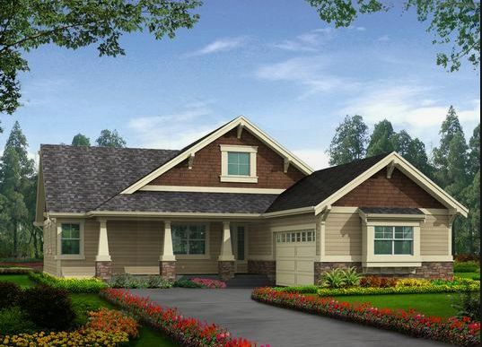 Rustic rambler displays robust craftsman style with its for Craftsman rambler house plans