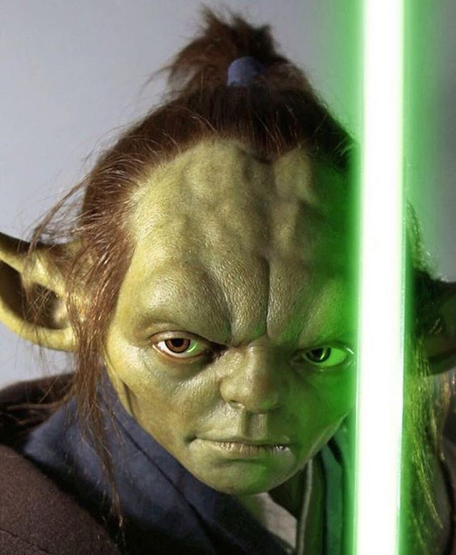Young Yoda <--- I think they might have used Hulk's mouth and maybe nose