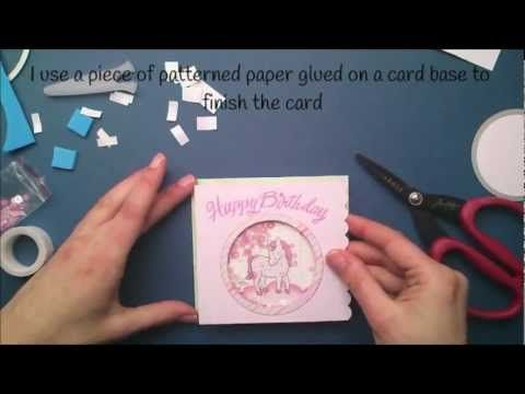 ▶ How to make a shaker card { Lawn Fawn } - YouTube