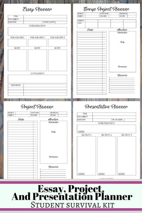 College Student Printable Planner 2019 2020 Back To School