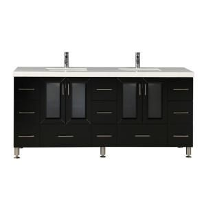 Design Element Westfiled 72 in. W x 22 in. D Double Vanity in Espresso with Quartz Vanity Top in White with White Basin WF-72 at The Home Depot - Mobile