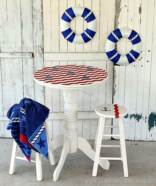 nautical inspired furniture. nautical furniture makeover sailboat inspired n