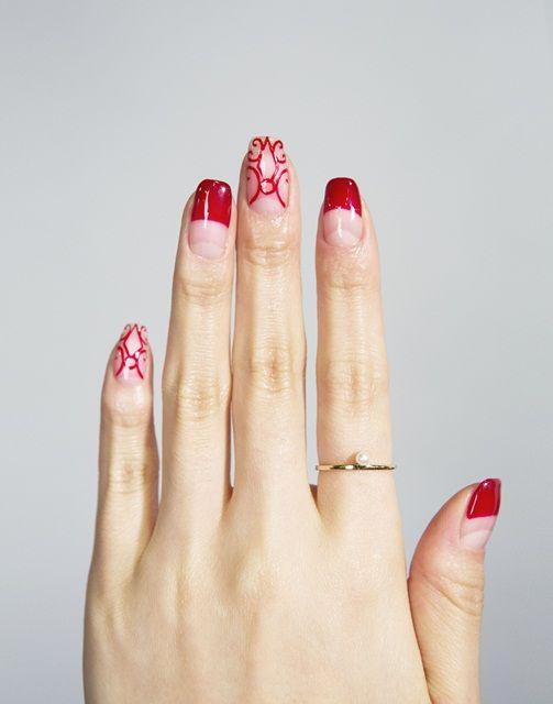 Modern Flame #nailart #nail #beauty #chahongardor