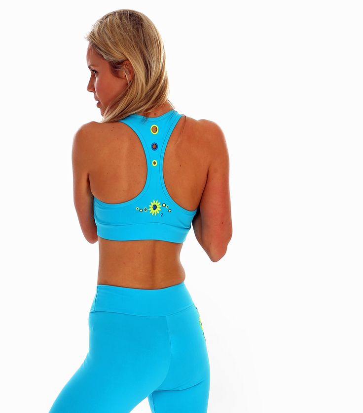 Margarita Halo Bra Top in Turquoise | Daisy Fitness Wear